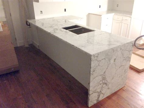 remodel kitchen island waterfall counter artistic kitchen and