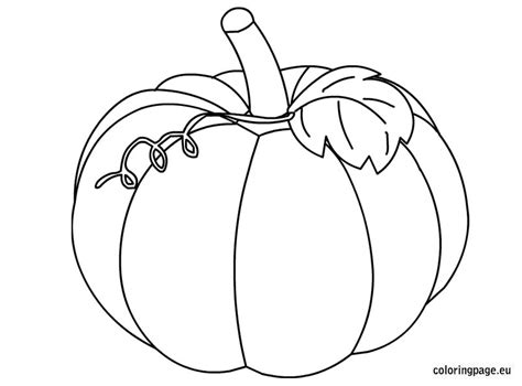 Pumpkin Coloring Pages Templates Fall Hicoloringpages