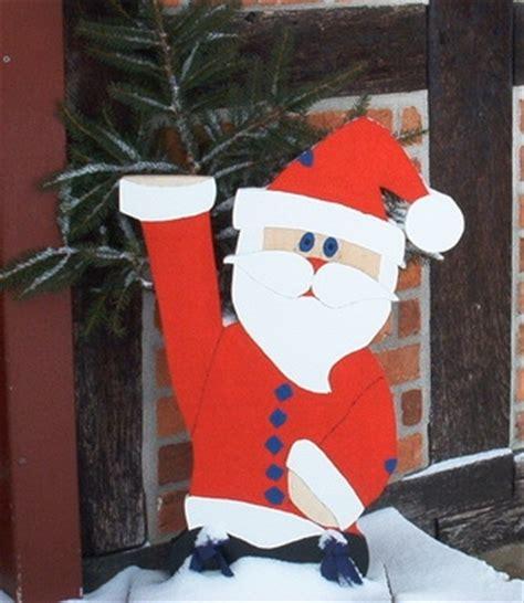 weihnachtsmann kostüm selber nähen weihnachtliche deko f 252 r den garten an na haus und