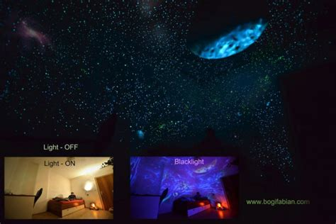 Wonderful Glow In The Dark Room Painting! When Lights Go