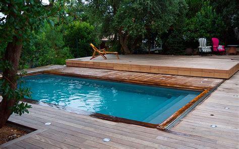 mobile terrasse pool terrasse mobile piscine terrasse mobile en bois exotique 224 cap ferret nos terrasses