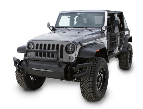jeep wrangler front rage products 99509 trailram modular front bumper for