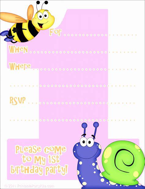 6 1st Birthday Card Template SampleTemplatess
