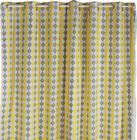 shower curtain yellow 72x72 contemporary shower
