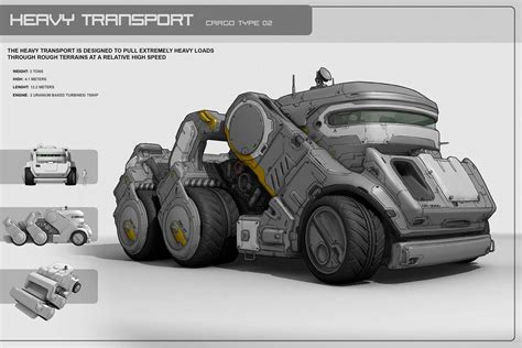 concept vehicles keywords vehicle concept heavy transport carrier digital