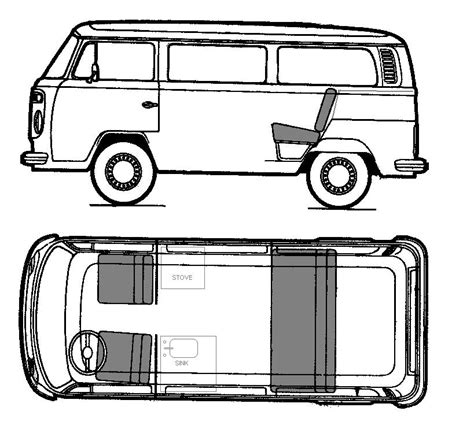 volkswagen bus drawing cartoon vw bus google search vw pinterest buses