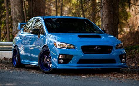 Blue Subaru Wallpaper by Wallpaper Blue Sports Car Subaru Impreza Wrx Sti