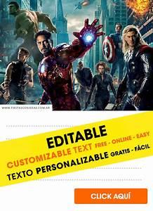 21 Birthday Invitations Free 21 Free Avengers Birthday Invitations For Edit