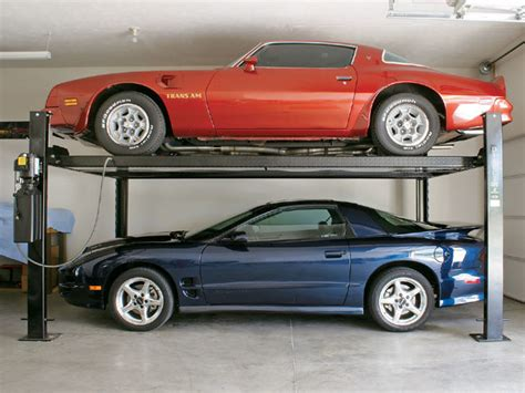 car lifts for garage installing a lift in your garage rod network