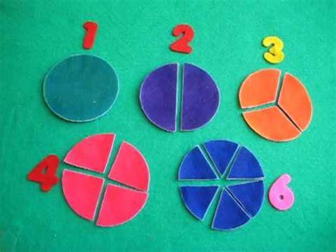 preschool math beginning fractions youtube