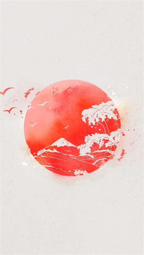 nipon eastern sun japan waves iphone  wallpaper