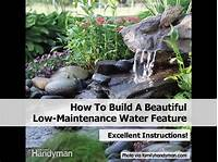 how to build a water feature How To Build A Beautiful Low-Maintenance Water Feature