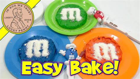 easy bake oven featuring mms cake bake set youtube