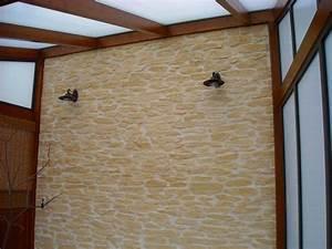 Wand Mit Steinoptik : wand mit steinoptik wandgestaltung dekorative w nde und ~ Watch28wear.com Haus und Dekorationen