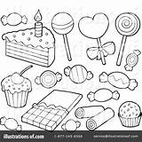 Dessert Desserts Clipart Drawing Coloring Pages Illustration Visekart Royalty Rf Drawings Getdrawings sketch template