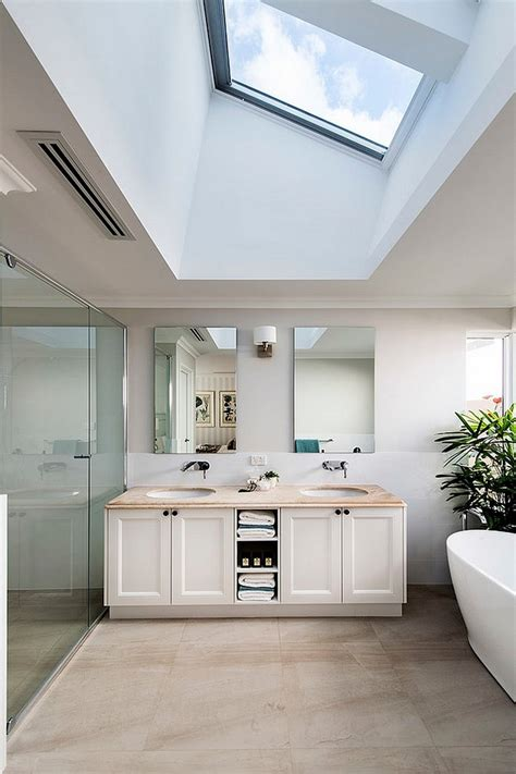 Modern Residential Indoor Skylight Design Ideas by Gorgeous Bathrooms That Unleash The Radiance Of Skylights