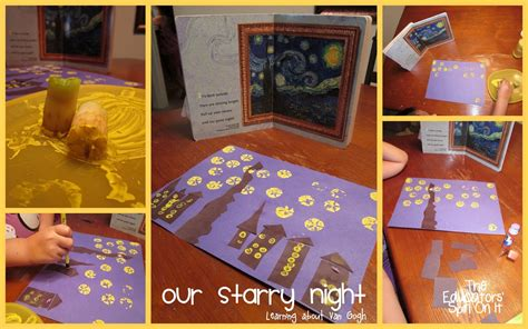 apple prints to create starry by gogh the