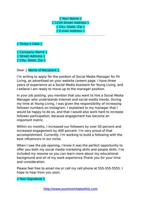 cover letter formats   template