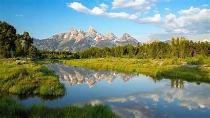 Scenery Wyoming 4k Wallpapers Mountains Lake Water