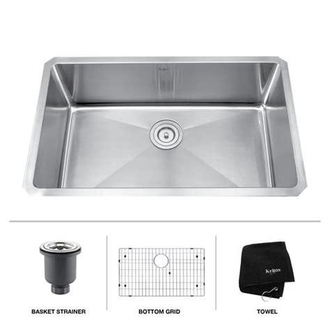 Menards Kitchen Sinks Undermount by Kraus 30 Quot Stainless Steel Undermount Single Bowl 16