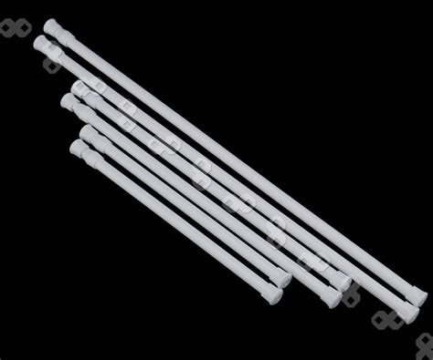 no drill curtain rods australia 2 pcs loaded extendable voile bath net curtain
