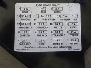 1995 Chevy Camaro - Dash Fuse Box Door