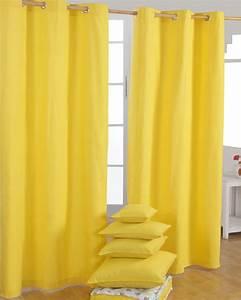 Gardinen Mit ösen : gardinen mit sen unifarben gelb im 2er set homescapes ~ Indierocktalk.com Haus und Dekorationen