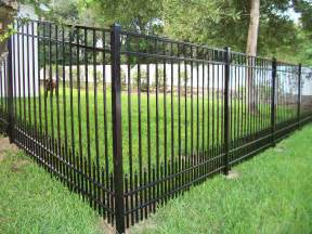 pictures of a fence aluminum fence
