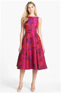 fit and flare wedding guest dress papell jacquard tea length fit flare dress nordstrom