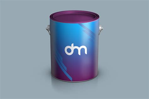 Home our free mockup free paint bucket mockup psd template. Paint Bucket Branding Mockup   Download Mockup