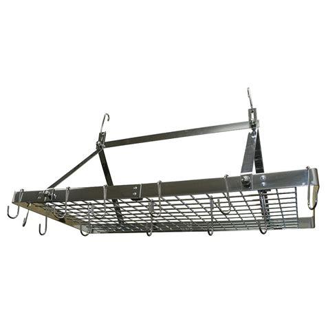 home depot pot rack range kleen stainless steel pot rack rectangle cw6014