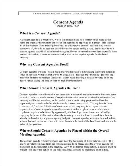 agenda examples   ms word
