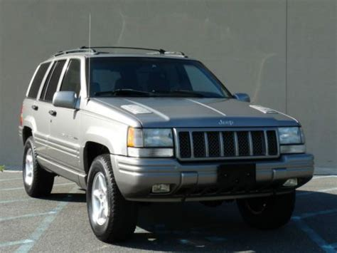 jeep cherokee sunroof purchase used 98 jeep grand cherokee limited 5 9l v8