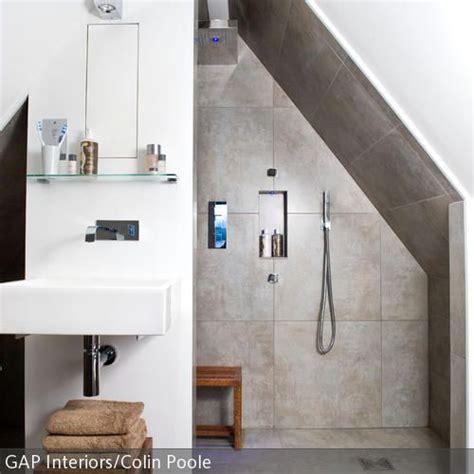 Duschnische Unter Der Dachschräge  Badezimmer & Natur