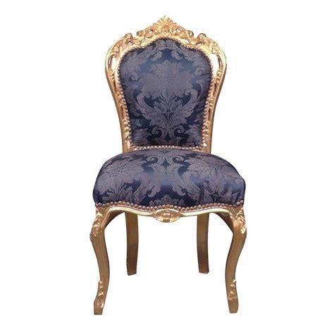 chaise bleue blue baroque chair baroque furniture