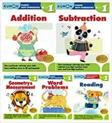 kumon grade  math reading set  workbooks addition