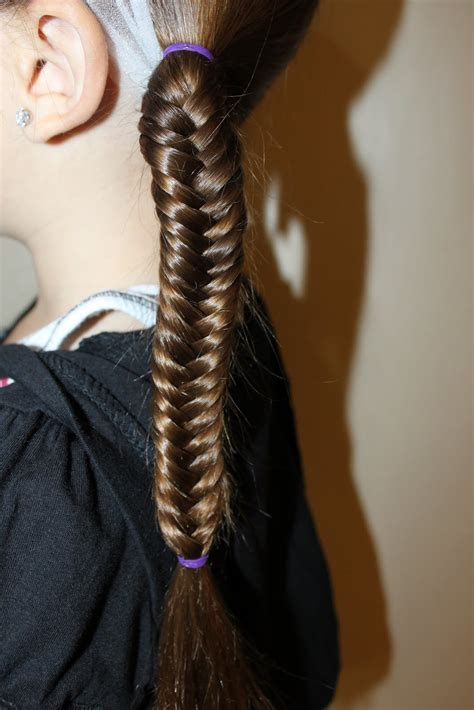 hairstyles  girls  wright hair fishtail braids