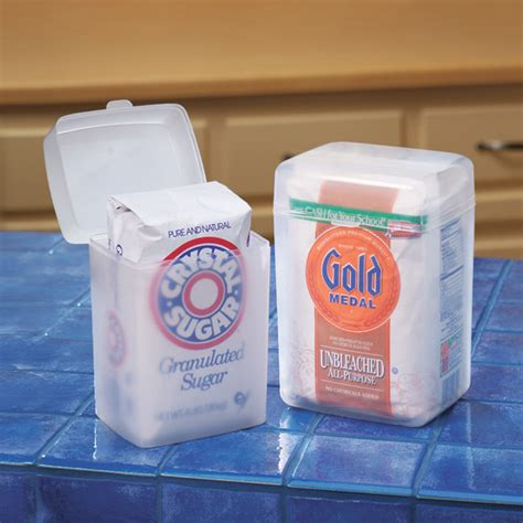 Kitchen Keepers Oven Genie by Flour And Sugar Keepers Sugar Storage Containers