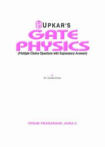 Download Gate Physics Multiple Choice Questions With