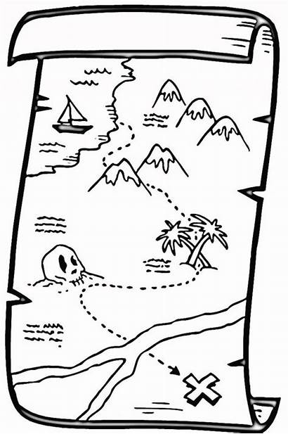 Treasure Coloring Pirate Map Pages Colouring Maps