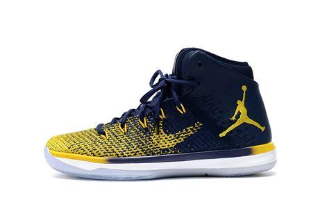 Nike Air Jordan Xxxi 31 Navy Blue Yellow White Men