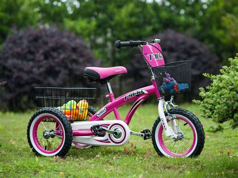 Tauki™ 12 Inch Kids Tricycle, front and rear baskets, hand ...