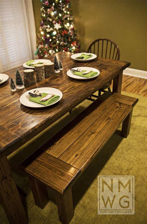 pine farmhouse table stained  minwax dark