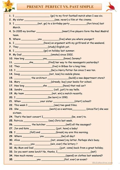 Present Perfect Vs Past Simple Worksheet  Free Esl Printable Worksheets Made By Teachers
