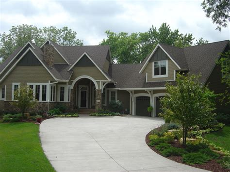 traditional transitional tudor home exterior neutral
