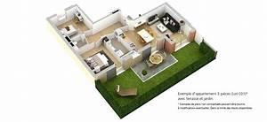 programme immobilier neuf domaine de la chataigneraie With plan maison avec jardin interieur 15 plan de masse lamaisonvertlagon