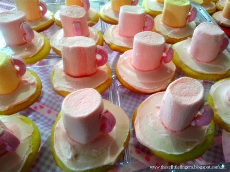 fingers pink party tea cups