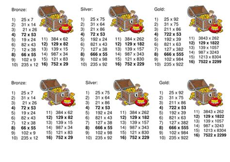 long multiplication de coding worksheet by captainloui
