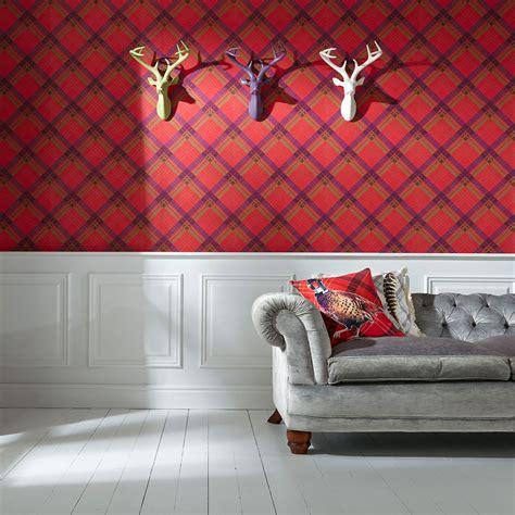 tartan wallpaper plaid checked designs red gold