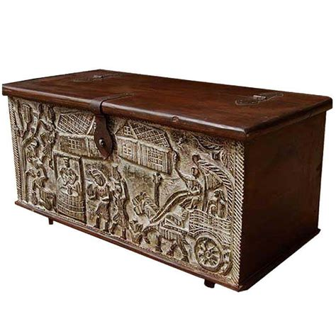 Buy chest coffee tables and get the best deals at the lowest prices on ebay! Ornate Hand Carved Mango Wood Storage Trunk Coffee Table